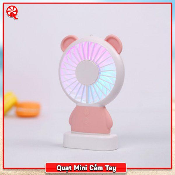 Quạt Mini Để Bàn Có Đèn Đổi Màu